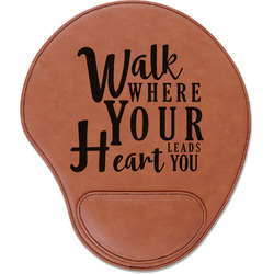 Heart Quotes and Sayings Leatherette Mouse Pad with Wrist Support (Personalized)