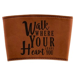 Heart Quotes and Sayings Leatherette Mug Sleeve (Personalized)