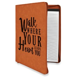 Heart Quotes and Sayings Leatherette Zipper Portfolio with Notepad (Personalized)