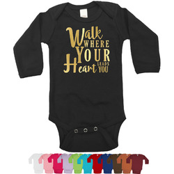 Heart Quotes and Sayings Bodysuit w/Foil - Long Sleeves (Personalized)