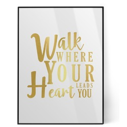 Heart Quotes and Sayings Foil Print (Personalized)
