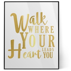 Heart Quotes and Sayings 8x10 Foil Wall Art - White (Personalized)