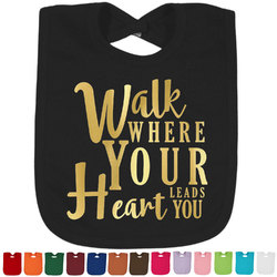 Heart Quotes and Sayings Foil Baby Bibs (Select Foil Color) (Personalized)