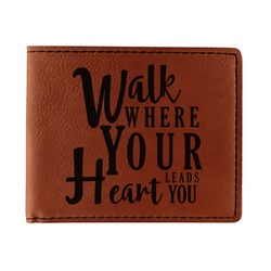 Heart Quotes and Sayings Leatherette Bifold Wallet (Personalized)