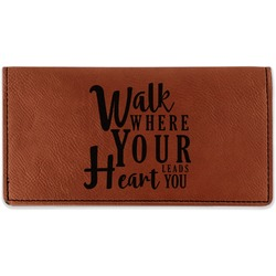 Heart Quotes and Sayings Leatherette Checkbook Holder (Personalized)