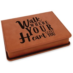 Heart Quotes and Sayings Leatherette 4-Piece Wine Tool Set (Personalized)