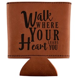 Heart Quotes and Sayings Leatherette Can Sleeve (Personalized)