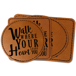 Heart Quotes and Sayings Faux Leather Iron On Patch