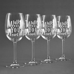 Heart Quotes and Sayings Wine Glasses (Set of 4) (Personalized)
