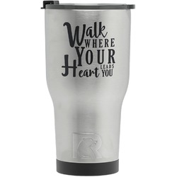 Heart Quotes and Sayings RTIC Tumbler - Silver (Personalized)