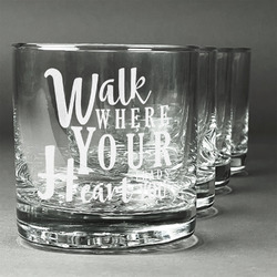 Heart Quotes and Sayings Whiskey Glasses (Set of 4) (Personalized)