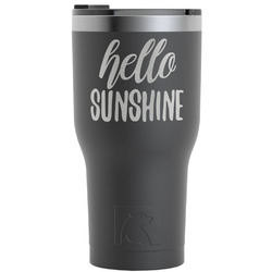 Hello Quotes and Sayings RTIC Tumbler - Black (Personalized)