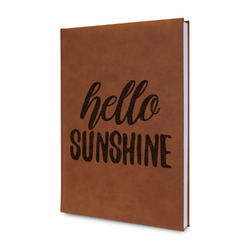 Hello Quotes and Sayings Leatherette Journal (Personalized)