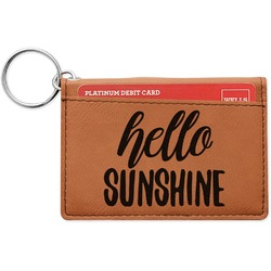 Hello Quotes and Sayings Leatherette Keychain ID Holder (Personalized)