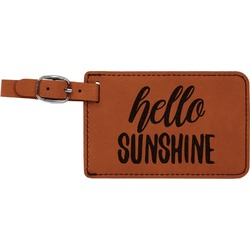 Hello Quotes and Sayings Leatherette Luggage Tag (Personalized)