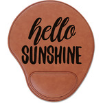 Hello Quotes and Sayings Leatherette Mouse Pad with Wrist Support (Personalized)