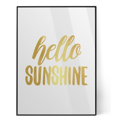 Hello Quotes and Sayings Foil Print (Personalized)