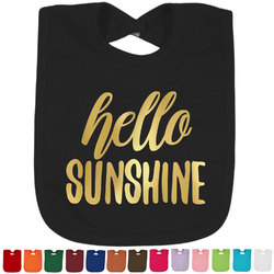 Hello Quotes and Sayings Foil Baby Bibs (Select Foil Color) (Personalized)
