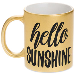 Hello Quotes and Sayings Gold Mug (Personalized)