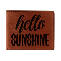Hello Quotes and Sayings Leatherette Bifold Wallet (Personalized)