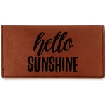 Hello Quotes and Sayings Leatherette Checkbook Holder (Personalized)