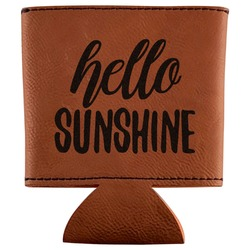 Hello Quotes and Sayings Leatherette Can Sleeve (Personalized)