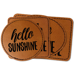 Hello Quotes and Sayings Faux Leather Iron On Patch