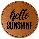 Hello Quotes and Sayings Leatherette Patch