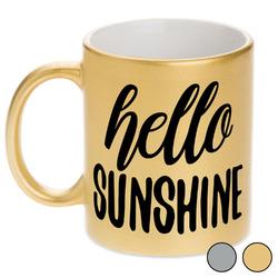 Hello Quotes and Sayings Metallic Mug