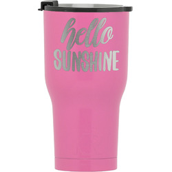 Hello Quotes and Sayings RTIC Tumbler - Pink (Personalized)