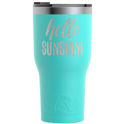 Hello Quotes and Sayings RTIC Tumbler - Teal - 30 oz (Personalized)