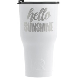 Hello Quotes and Sayings RTIC Tumbler - White (Personalized)