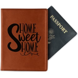 Home Quotes and Sayings Leatherette Passport Holder (Personalized)