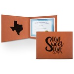 Home Quotes and Sayings Leatherette Certificate Holder (Personalized)