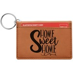 Home Quotes and Sayings Leatherette Keychain ID Holder (Personalized)