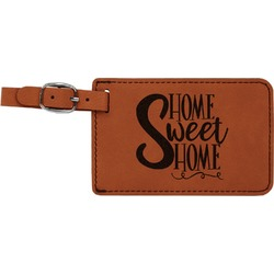 Home Quotes and Sayings Leatherette Luggage Tag (Personalized)