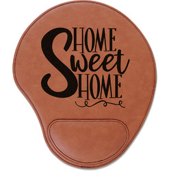 Home Quotes and Sayings Leatherette Mouse Pad with Wrist Support (Personalized)