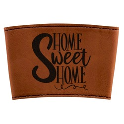 Home Quotes and Sayings Leatherette Mug Sleeve (Personalized)