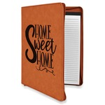 Home Quotes and Sayings Leatherette Zipper Portfolio with Notepad (Personalized)