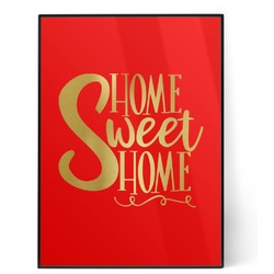 Home Quotes and Sayings 5x7 Red Foil Print (Personalized)