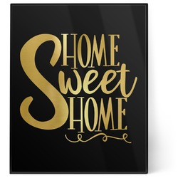 Home Quotes and Sayings 8x10 Foil Wall Art - Black (Personalized)
