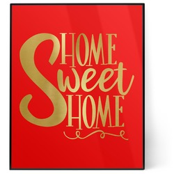 Home Quotes and Sayings 8x10 Foil Wall Art - Red (Personalized)