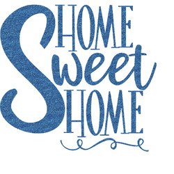 Home Quotes and Sayings Glitter Sticker Decal - Custom Sized (Personalized)