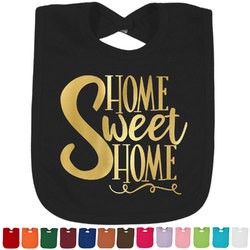 Home Quotes and Sayings Foil Toddler Bibs (Select Foil Color) (Personalized)