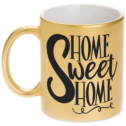 Home Quotes and Sayings Gold Mug (Personalized)