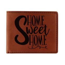 Home Quotes and Sayings Leatherette Bifold Wallet (Personalized)