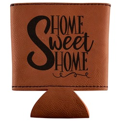 Home Quotes and Sayings Leatherette Can Sleeve (Personalized)