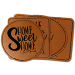 Home Quotes and Sayings Faux Leather Iron On Patch