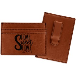 Home Quotes and Sayings Leatherette Wallet with Money Clip (Personalized)