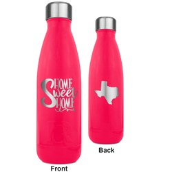 Home Quotes and Sayings RTIC Bottle - 17 oz. Pink - Engraved Front & Back (Personalized)